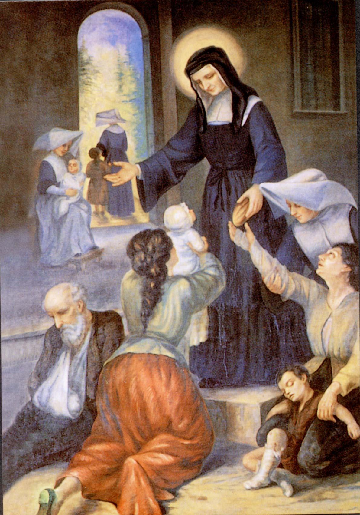 Louise de marillac et les pauvres tableau d 39 origine for Maillesac housse
