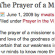 The Prayer of a Missioner